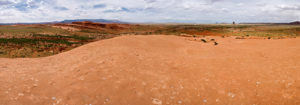 Panoramic photo of Red Valley, Arizona, with no buildings in sight.