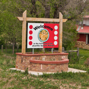 Dulce, New Mexico. Jicarilla Apache Nation sign. Photo by Bob Nichols/USDA/Flickr.