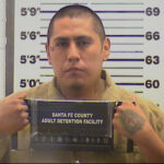 Mug shot of Raylan Reano from the Santa Fe County Detention Center