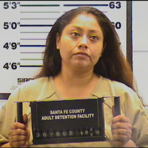 Mug shot of Jodie Martinez from the Santa Fe County Detention Center